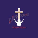 Μουσική Ευαγγέλιου λογότυπων Στοκ Εικόνες