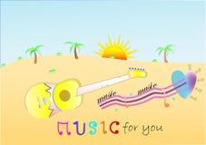 Μουσική ηλιοφάνειας απεικόνιση αποθεμάτων