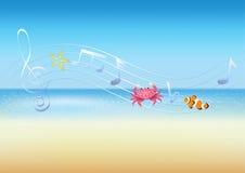 Μουσική θάλασσας Στοκ εικόνες με δικαίωμα ελεύθερης χρήσης