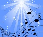 μουσική κάτω από το ύδωρ Στοκ εικόνες με δικαίωμα ελεύθερης χρήσης