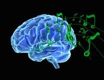Μουσική και εγκέφαλος διανυσματική απεικόνιση