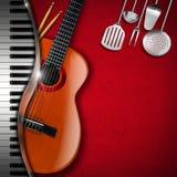 Μουσική και τρόφιμα - σχέδιο επιλογών Στοκ εικόνες με δικαίωμα ελεύθερης χρήσης