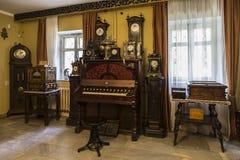 ` Μουσική και χρόνος ` - ένα ιδιωτικό μουσείο σε Yaroslavl Η έκθεση μουσείων Στοκ Εικόνες