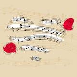 μουσική καρδιών Στοκ Εικόνες