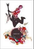 μουσική κιθαριστών ανασ&kapp διανυσματική απεικόνιση