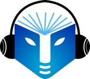 μουσική λογότυπων βιβλί&ome διανυσματική απεικόνιση