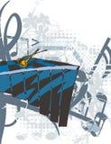 μουσική οργάνων ανασκόπησης Στοκ Φωτογραφία