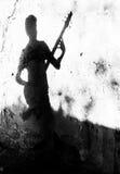 Μουσική παντού, η σκιά της μουσικής Στοκ εικόνα με δικαίωμα ελεύθερης χρήσης