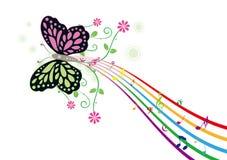 μουσική πεταλούδων διανυσματική απεικόνιση