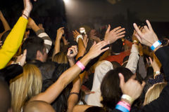 μουσική πλήθους συναυ&la Στοκ εικόνες με δικαίωμα ελεύθερης χρήσης