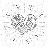 Μουσική ροκ στην καρδιά μου Στοκ εικόνες με δικαίωμα ελεύθερης χρήσης