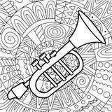 Μουσική σάλπιγγα σε μια εθνική καταγωγή Στοκ Εικόνες