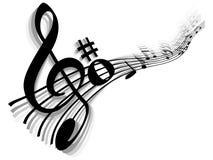 μουσική στοιχείων έννοια& Στοκ Φωτογραφίες