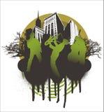 μουσική συναυλίας πόλεων απεικόνιση αποθεμάτων