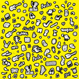 Μουσική συλλογή εικονιδίων Doodled σε γραπτό Στοκ εικόνες με δικαίωμα ελεύθερης χρήσης