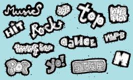 Μουσική συλλογή σημαδιών Doodled Στοκ Εικόνες