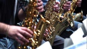 Μουσική τζαζ φορέων Saxophone απόθεμα βίντεο