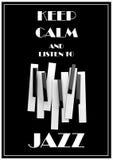 Μουσική της Jazz, πρότυπο υποβάθρου αφισών Στοκ Φωτογραφίες