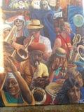 Μουσική τοιχογραφία Στοκ εικόνα με δικαίωμα ελεύθερης χρήσης