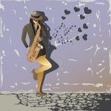 Μουσική του saxophone Στοκ Εικόνες