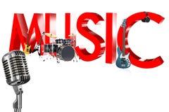 Μουσική τρισδιάστατη Στοκ φωτογραφία με δικαίωμα ελεύθερης χρήσης