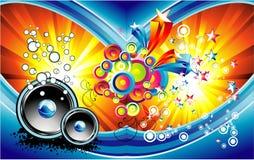 μουσική φαντασίας ανασκό& ελεύθερη απεικόνιση δικαιώματος
