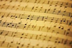 Μουσική φύλλων Στοκ εικόνες με δικαίωμα ελεύθερης χρήσης