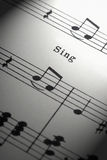 Μουσική φύλλων Στοκ Εικόνες