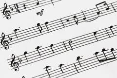 Μουσική φύλλων Στοκ φωτογραφίες με δικαίωμα ελεύθερης χρήσης