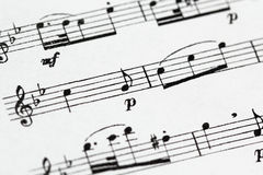 Μουσική φύλλων Στοκ φωτογραφία με δικαίωμα ελεύθερης χρήσης