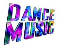 Μουσική χορού κειμένων σε ένα άσπρο υπόβαθρο ελεύθερη απεικόνιση δικαιώματος