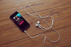 Μουσική App Στοκ εικόνα με δικαίωμα ελεύθερης χρήσης
