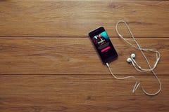 Μουσική App Στοκ Φωτογραφία