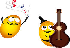 Μουσική emoticons Στοκ εικόνες με δικαίωμα ελεύθερης χρήσης