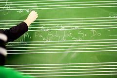 μουσική lession Στοκ φωτογραφία με δικαίωμα ελεύθερης χρήσης