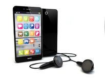 Μουσική Smartphone Στοκ εικόνα με δικαίωμα ελεύθερης χρήσης