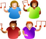 μουσικοί άνθρωποι διανυσματική απεικόνιση