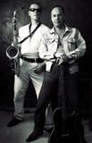 μουσικοί δύο στοκ φωτογραφία με δικαίωμα ελεύθερης χρήσης