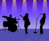 μουσικοί ζωνών Στοκ Εικόνες