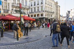 Μουσικοί οδών στις Βρυξέλλες στοκ εικόνες