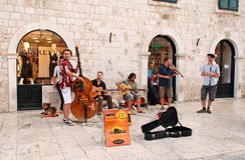 Μουσικοί οδών, Dubrovnik, Κροατία στοκ φωτογραφίες
