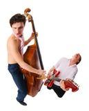 μουσικοί που εκτελούν & Στοκ φωτογραφία με δικαίωμα ελεύθερης χρήσης