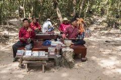 Μουσικοί σε Angor Wat σύνθετο Στοκ Φωτογραφίες