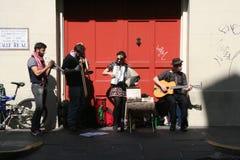 Μουσικοί στη γαλλική συνοικία Στοκ φωτογραφία με δικαίωμα ελεύθερης χρήσης