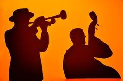 Μουσικοί της Jazz στοκ φωτογραφία
