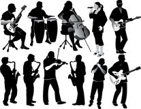 μουσικοί Στοκ Φωτογραφία