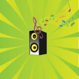 μουσικός ήχος μουσικής στηλών Στοκ εικόνα με δικαίωμα ελεύθερης χρήσης