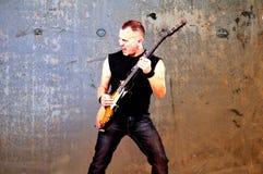 Μουσικός βράχου Στοκ φωτογραφία με δικαίωμα ελεύθερης χρήσης