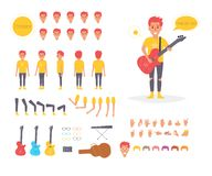 Μουσικός για τη ζωτικότητα θέτει Στοκ φωτογραφία με δικαίωμα ελεύθερης χρήσης