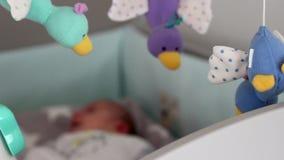 Μουσικός κινητός μωρών απόθεμα βίντεο